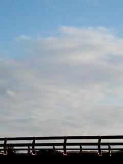 道の途中で見上げた空は